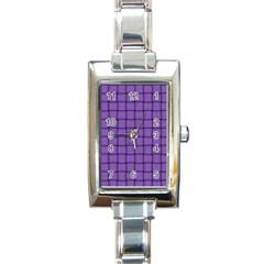 Amethyst Weave Rectangular Italian Charm Watch