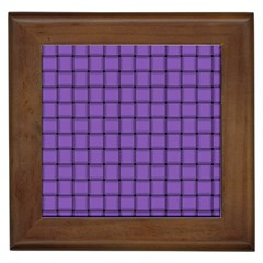 Amethyst Weave Framed Ceramic Tile
