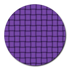 Amethyst Weave 8  Mouse Pad (round)