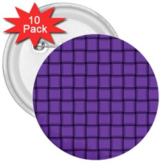 Amethyst Weave 3  Button (10 pack)