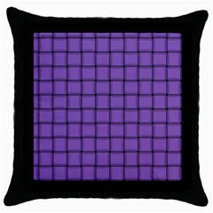Amethyst Weave Black Throw Pillow Case