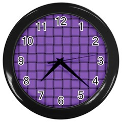 Amethyst Weave Wall Clock (black)