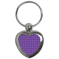 Amethyst Weave Key Chain (Heart)