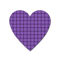 Amethyst Weave Magnet (heart)