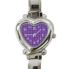 Amethyst Weave Heart Italian Charm Watch