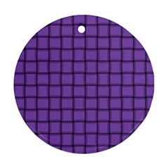 Amethyst Weave Round Ornament (two Sides)