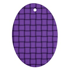 Amethyst Weave Oval Ornament (Two Sides)