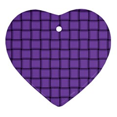 Amethyst Weave Heart Ornament (Two Sides)