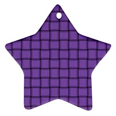 Amethyst Weave Star Ornament (Two Sides)