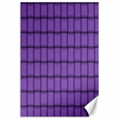 Amethyst Weave Canvas 12  x 18  (Unframed)