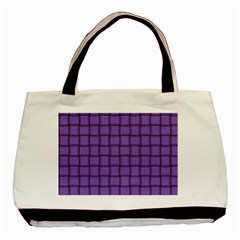 Amethyst Weave Twin-sided Black Tote Bag