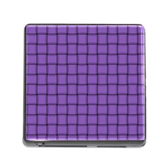 Amethyst Weave Memory Card Reader with Storage (Square)