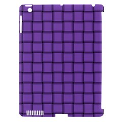 Amethyst Weave Apple Ipad 3/4 Hardshell Case (compatible With Smart Cover)