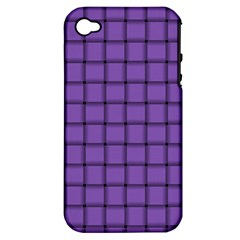 Amethyst Weave Apple Iphone 4/4s Hardshell Case (pc+silicone)