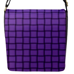 Amethyst Weave Flap closure messenger bag (Small)