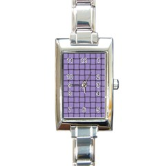 Light Pastel Purple Weave Rectangular Italian Charm Watch