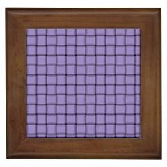 Light Pastel Purple Weave Framed Ceramic Tile