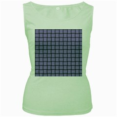 Light Pastel Purple Weave Womens  Tank Top (Green)