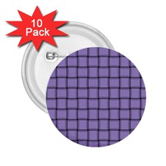 Light Pastel Purple Weave 2.25  Button (10 pack)