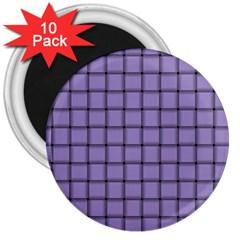 Light Pastel Purple Weave 3  Button Magnet (10 Pack)
