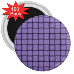Light Pastel Purple Weave 3  Button Magnet (100 pack)