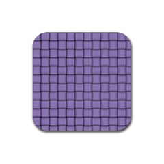 Light Pastel Purple Weave Drink Coaster (Square)