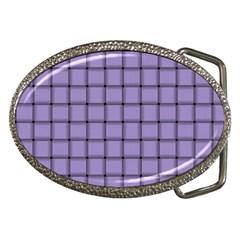 Light Pastel Purple Weave Belt Buckle (Oval)