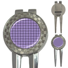 Light Pastel Purple Weave Golf Pitchfork & Ball Marker