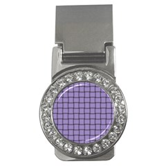 Light Pastel Purple Weave Money Clip (CZ)