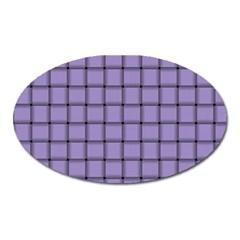 Light Pastel Purple Weave Magnet (Oval)