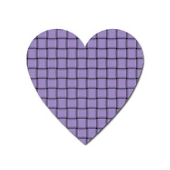 Light Pastel Purple Weave Magnet (heart)
