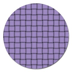 Light Pastel Purple Weave Magnet 5  (Round)