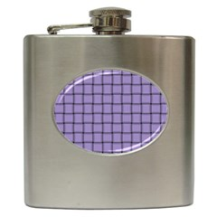 Light Pastel Purple Weave Hip Flask