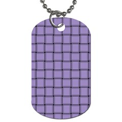 Light Pastel Purple Weave Dog Tag (two Sided)