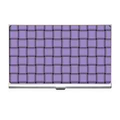 Light Pastel Purple Weave Business Card Holder