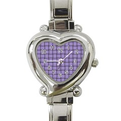Light Pastel Purple Weave Heart Italian Charm Watch