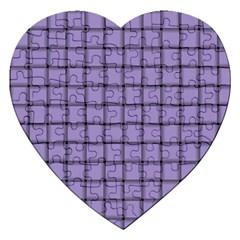 Light Pastel Purple Weave Jigsaw Puzzle (Heart)