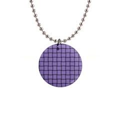 Light Pastel Purple Weave Button Necklace