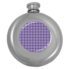 Light Pastel Purple Weave Hip Flask (round)