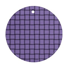 Light Pastel Purple Weave Round Ornament (Two Sides)