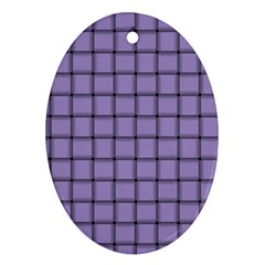 Light Pastel Purple Weave Oval Ornament (Two Sides)