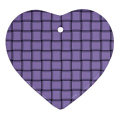 Light Pastel Purple Weave Heart Ornament (Two Sides)