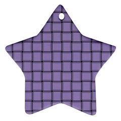 Light Pastel Purple Weave Star Ornament (two Sides)