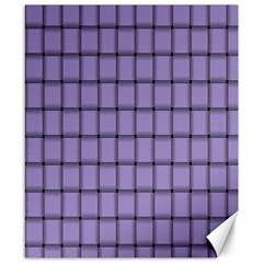 Light Pastel Purple Weave Canvas 8  x 10  (Unframed)