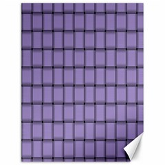 Light Pastel Purple Weave Canvas 12  x 16  (Unframed)