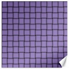 Light Pastel Purple Weave Canvas 16  x 16  (Unframed)