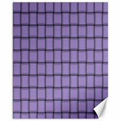 Light Pastel Purple Weave Canvas 16  X 20  (unframed)