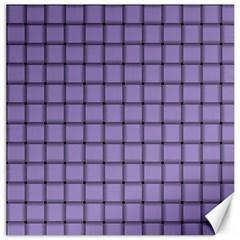 Light Pastel Purple Weave Canvas 20  x 20  (Unframed)