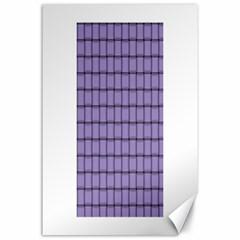 Light Pastel Purple Weave Canvas 24  X 36  (unframed)