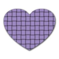 Light Pastel Purple Weave Mouse Pad (heart)
